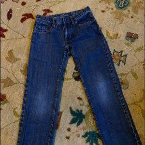 Boys straight Gap 1969 dark wash jeans